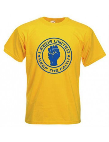 Leeds united keep the faith t shirt for Printed t shirts leeds