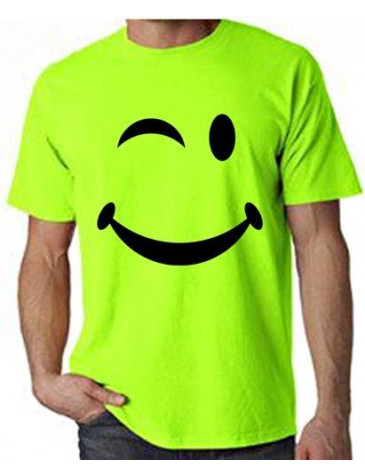 smiley acid neon t shirt. Black Bedroom Furniture Sets. Home Design Ideas