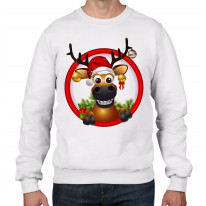 Rudolph Reindeer With Baubles Christmas Men's Jumper \ Sweater