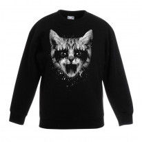Heavy Metal Pussycat Children's Unisex Sweatshirt Jumper