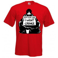 Banksy I Want Change Mens T-Shirt