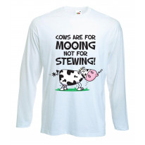 Vegetarian Cows Are For Mooing Men's Long Sleeve T-Shirt