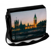 Big Ben and Houses of Parliament At Night Laptop Messenger Bag