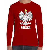 Polish Eagle Polska Flag Long Sleeve T-Shirt