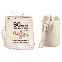 The Years Have Been Kind Men's 80th Birthday Present Duffle Backpack Bag