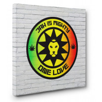 Jah Is Mighty Box Canvas Print Wall Art - Choice of Sizes