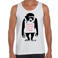 Banksy Laugh Now Monkey Men's Tank Vest Top