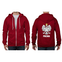 Polish Eagle Polska Flag Full Zip Hoodie