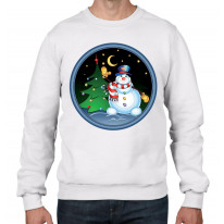 Christmas Snowman and Tree Men's Jumper \ Sweater