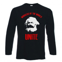 Karl Marx Workers Of The World Long Sleeve T-Shirt