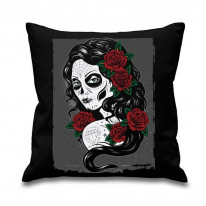 Day Of The Dead Tattoo Girl Cushion