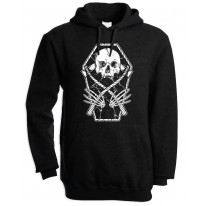 Grim Reaper Skeleton In A Coffin Pouch Pocket Hoodie