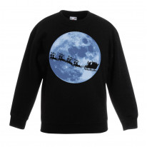 Santa With Sleigh and Reindeers Christmas Kids Jumper \ Sweater