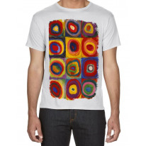 Wassilly Kandinsky Colour Study Square With Concentric Circles Large Print Men's T-Shirt