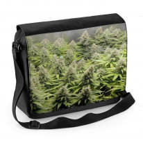 Cannabis Marijuana Buds Laptop Messenger Bag