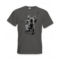 Grim Reaper Skateboarder Men's T-Shirt