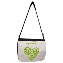 Vegetarian Heart Laptop Messenger Bag