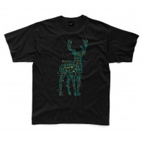 Electric Deer Stag Hipster Kids Childrens T-Shirt