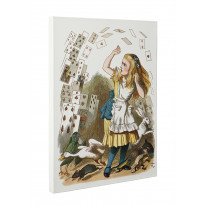 John Tenniel Shower of Cards Alice in Wonderland Box Canvas Print Wall Art - Choice of Sizes