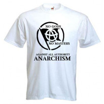 Anarchist Slogan Black Print T-Shirt