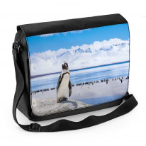 Penguin Antarctic Landscape Laptop Messenger Bag