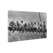 Lunch Atop A Skyscraper Box Canvas Print Wall Art - Choice of Sizes
