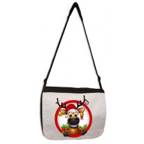 Rudolph The Red Nosed Reindeer Laptop Messenger Bag