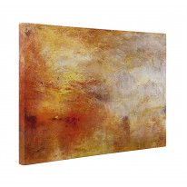William Turner Sun Setting Over A Lake Box Canvas Print Wall Art - Choice of Sizes