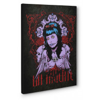 La Muerte Day of The Dead Zombie Girl Box Canvas Print Wall Art - Choice of Sizes