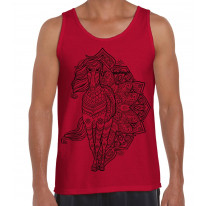 Tribal Horse Tattoo Large Print Men's Vest Tank Top