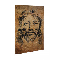 Jesus Grunge Portrait Box Canvas Print Wall Art - Choice of Sizes