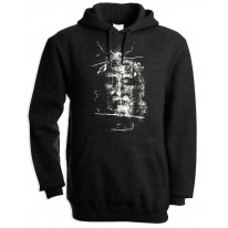Turin Shroud Jesus Christ Men's Pouch Pocket Hoodie Hooded Sweatshirt
