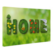 Home Sign Four Seasons Box Canvas Print Wall Art - Choice of Sizes
