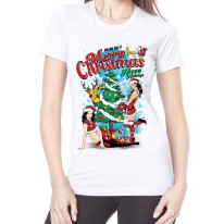 Sexy Merry Christmas Funny Women's T-Shirt