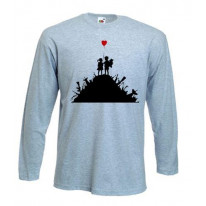 Banksy Kids On Guns Long Sleeve T-Shirt