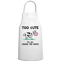 Too Cute To Go Under The Knife Vegetarian Kitchen Apron