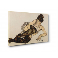 Egon Schiele Reclining Woman with Green Stockings Box Canvas Print Wall Art - Choice of Sizes