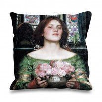 John William Waterhouse Gather Ye Rosebuds Faux Silk 45cm x 45cm Sofa Cushion