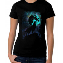 Wolf Howling at the Moon Women's T-Shirt