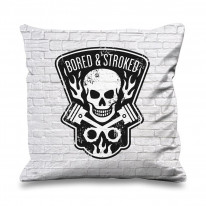 Bored and Stroked Faux Silk 45cm x 45cm Sofa Cushion