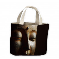 Buddha Head Close Up Tote Shopping Bag For Life