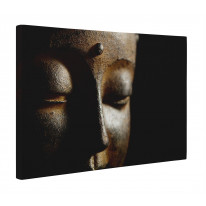 Buddha Head Close Up Box Canvas Print Wall Art - Choice of Sizes