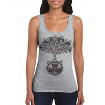 Celtic Spiral Tree of Life Large Print Women's Vest Tank Top