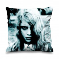 Night of the Living Dead Zombie Girl Faux Silk 45cm x 45cm Sofa Cushion