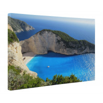 Zante Shipwreck Bay Greece Box Canvas Print Wall Art - Choice of Sizes