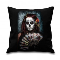 Day Of The Dead Fan Girl Cushion