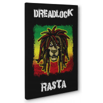Dreadlock Rasta Box Canvas Print Wall Art - Choice of Sizes