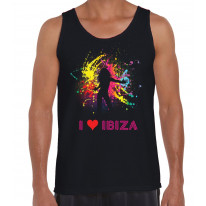I Love Ibiza Dancer Men's Tank Vest Top