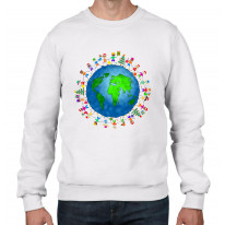 Christmas World Planet Earth Men's Sweater \ Jumper