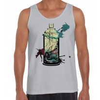 Graffiti Aerosol Spray Can Men's Tank Vest Top